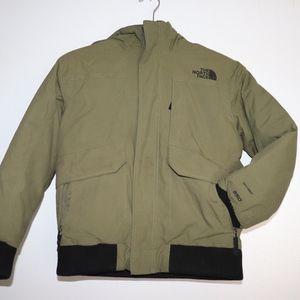Hunter Green and Black Boys North Face Jacket
